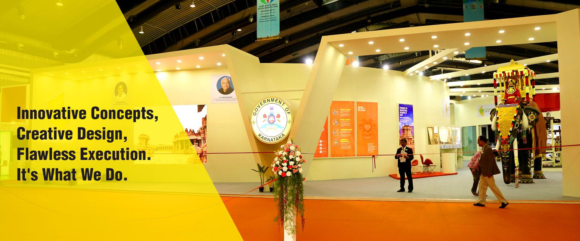 Exhibition Stall Fabricators Bangalore : Checkmate exhibition stall design fabrication